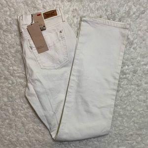 Levi's 505 straight leg NWT white jeans size 6